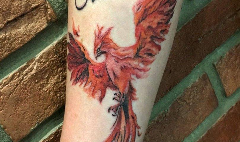 сделать тату на руке птица счастья в красноярске