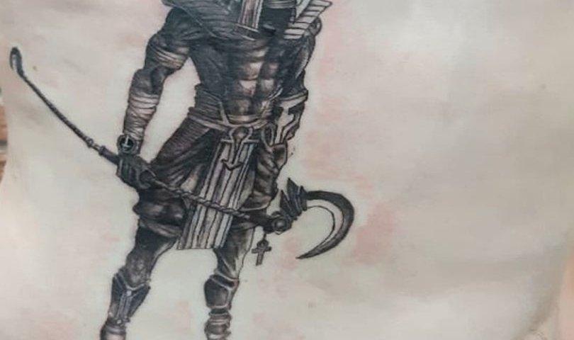 сделать тату на торсе египетский бог в Красноярске