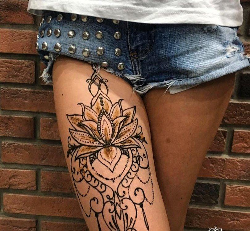 сделать тату на ноге хной (михенди) в Красноярске