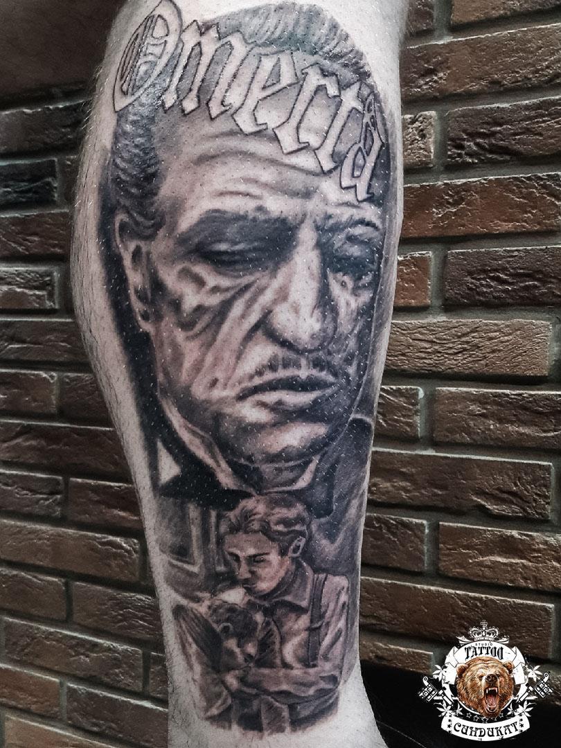 Сделать тату на руке крестный отец в Красноярске